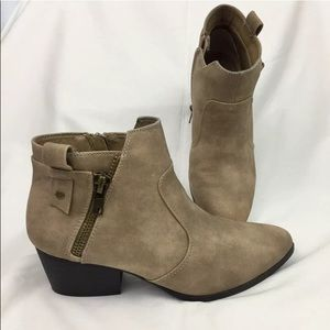 Rampage | Tan Faux Suede Ankle Booties size 7.5